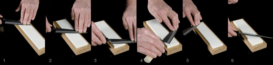 Sharpening Double Bevel Knives